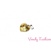 Ocelový náhrdelník se světle žlutým srdíčkem