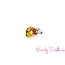 Ocelový náhrdelník se žlutým srdíčkem
