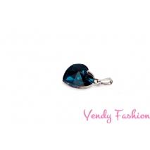 Ocelový náhrdelník se srdíčkem capri blue