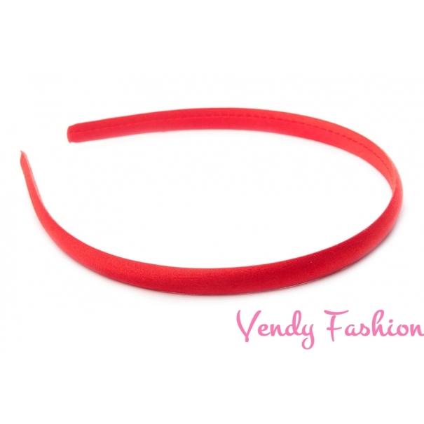 Plastová čelenka krytá stuhou červená - 1cm - Vendy-Fashion.cz 6eb59c2186