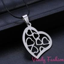 Srdíčkový náhrdelník ocel