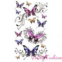 Dočasné tetování barevní motýli