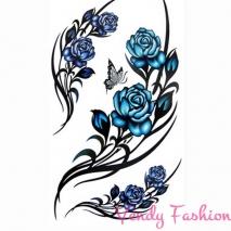 Dočasné tetování modré růže