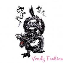 3D dočasné tetování pro muže drak