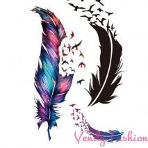 Dočasné tetování peří a ptáci