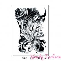 Dočasné tetování s černou rybou