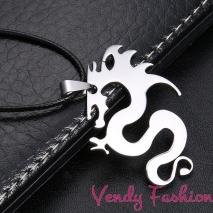 Náhrdelník s ocelovým drakem