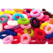 Špirálové gumičky mix - 10ks
