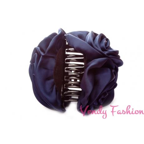 Skřipec do vlasů s růžemi modrý