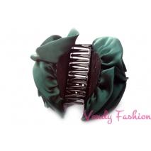 Skřipec do vlasů s růžemi zelený