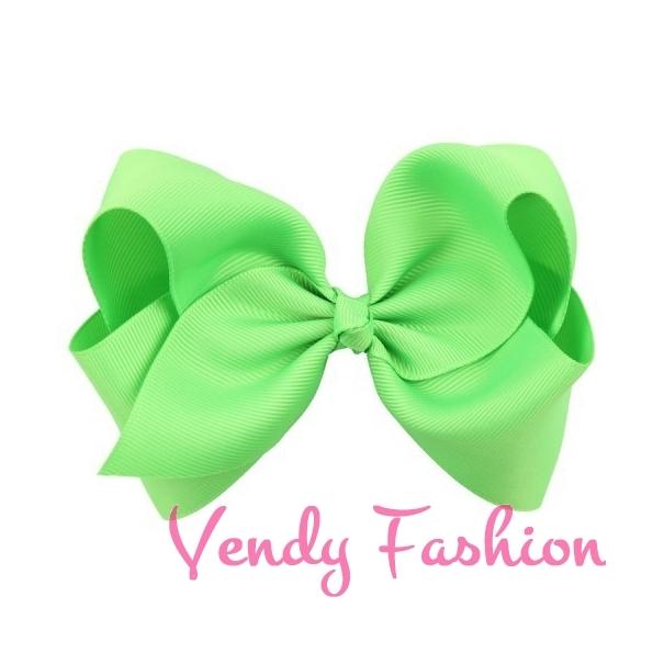 30077070a30 Zelená mašle do vlasů se sponkou pro děti - Vendy-Fashion.cz