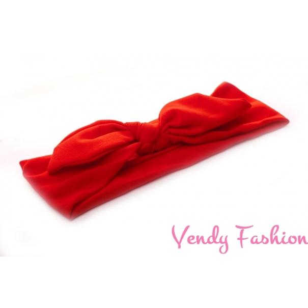 Látková čelenka s uzlem červená - Vendy-Fashion.cz 6b03d6a227