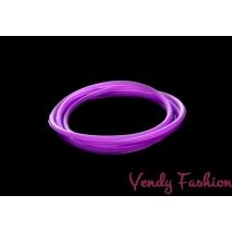 Svítící gumička do vlasů tmavě fialová
