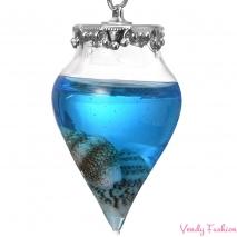 Náhrdelník s modrou kapkou oceánu