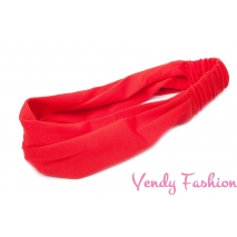 Čelenka - šátek do vlasů látková červená