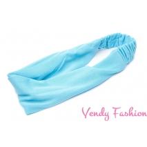 Čelenka - šátek do vlasů látková tyrkysová