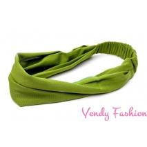 Čelenka - šátek do vlasů látková zelená