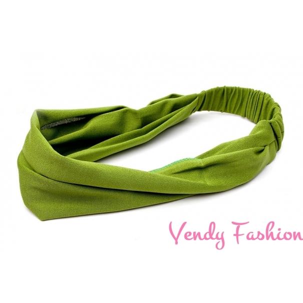 Čelenka - šátek do vlasů látková zelená - Vendy-Fashion.cz d887b806b3