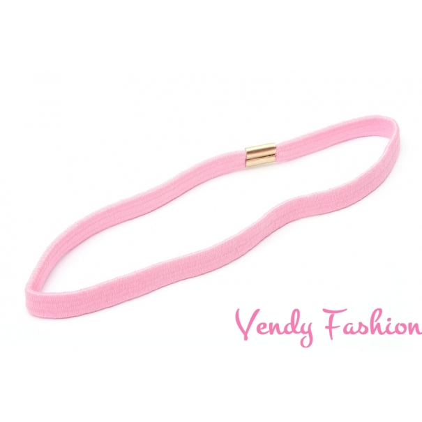 Čelenka do vlasů pružná světle růžová - Vendy-Fashion.cz 59053eadab