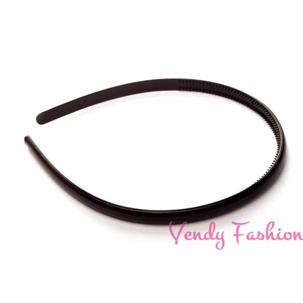 Černá plastová čelenka se dvěma řadami zoubků - Vendy-Fashion.cz ee4c104b6c