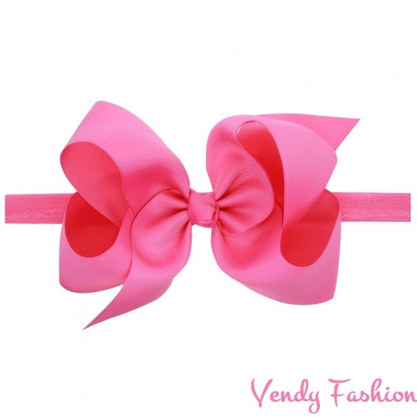 Dětská čelenka s velkou mašlí růžová - Vendy-Fashion.cz a46213bb69