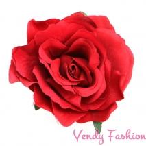 Růže do vlasů červená