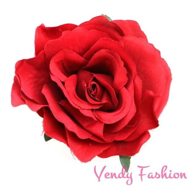72eb6125d40 Růže do vlasů červená - Vendy-Fashion.cz