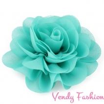 Kytička do vlasů šifonová smaragdová - 8,5cm