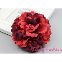 Červenofuchsiový květ do vlasů