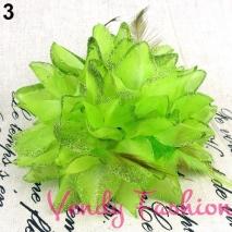 Květ do vlasů zelený