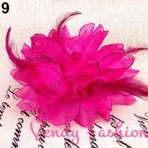 Květ do vlasů tmavě růžový