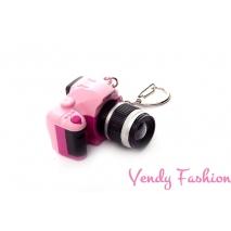 Přívěsek fotoaparát růžový