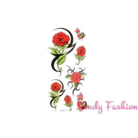 Dočasné tetování červené růže