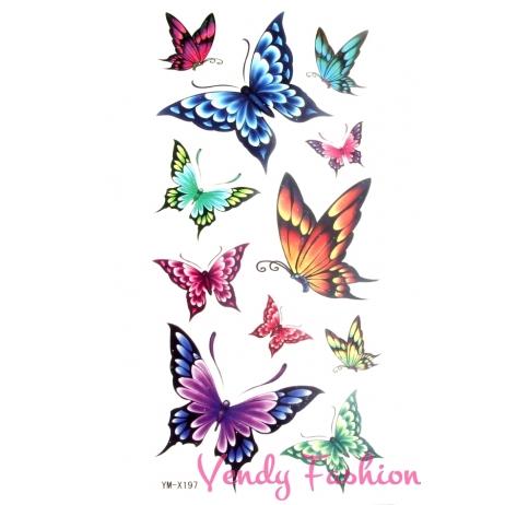 Dočasné tetování motýlci barevní