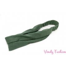 Čelenka - šátek do vlasů látková tmavě zelená