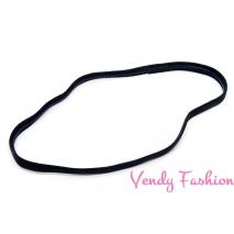 Textilní sportovní čelenka černá protiskluzová