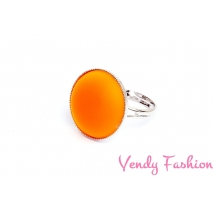 Prsten Velvet UV Orange 18mm rhodiovaný