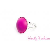Prsten Velvet Fuchsia 18mm rhodiovaný