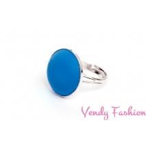 Prsten Velvet Sapphire 18mm rhodiovaný