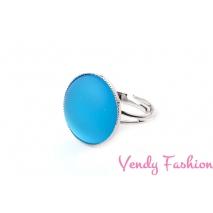 Prsten Velvet UV Aquamarine 18mm rhodiovaný